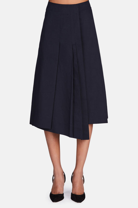 Wrapover Skirt - Midnight Blue