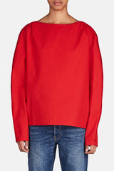 Large-Sleeve Blouse - Red