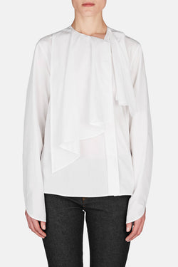Ruffle Collar Shirt - Chalk