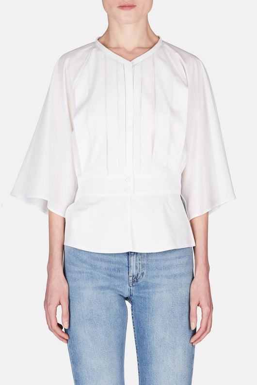 Pleated Shirt - Chalk