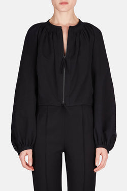 Zipped Blouse - Black