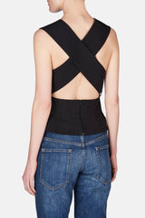 Cross-Back Top - Black