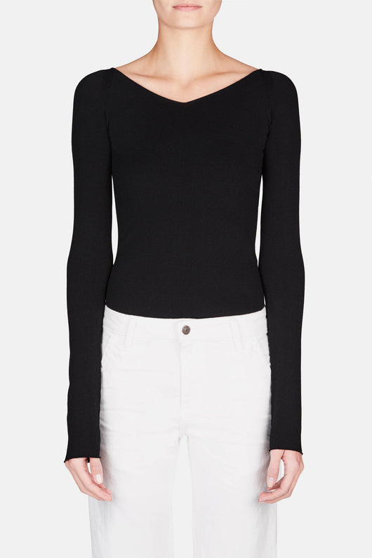 Leotard Sweater - Black