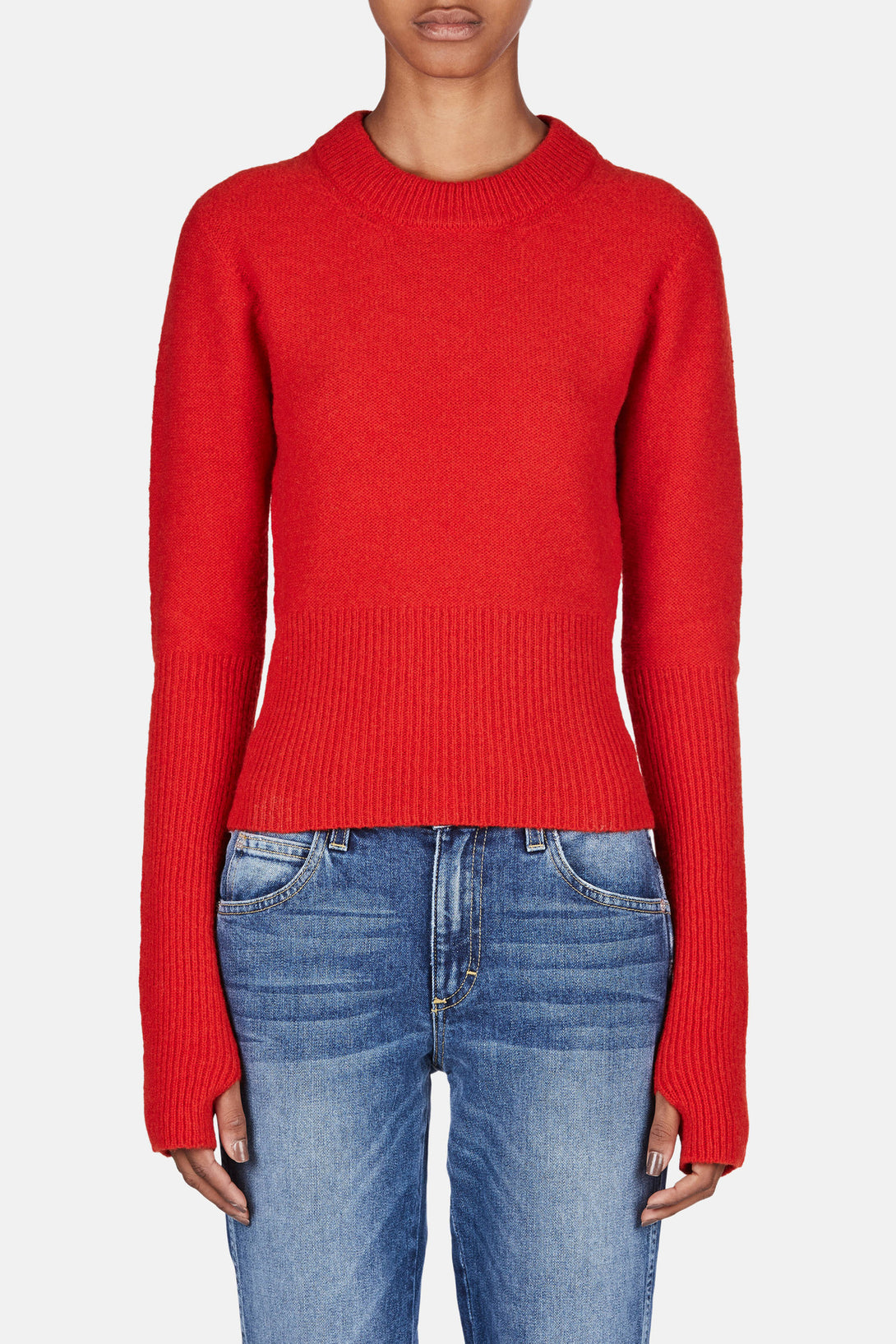 Short Sweater - Scarlet