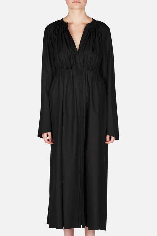 Elasticated Dress - Black