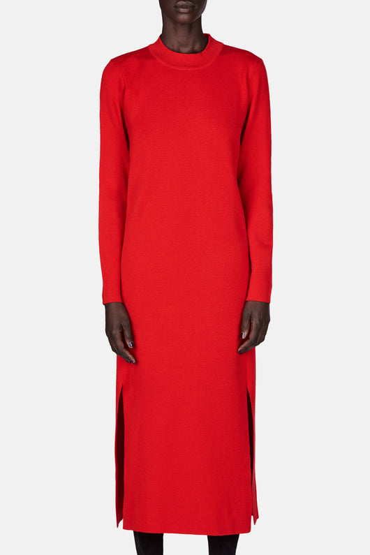 Slit Dress - Scarlet