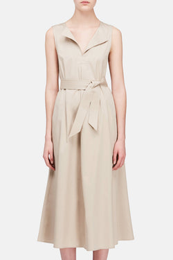 Flared Dress - Beige