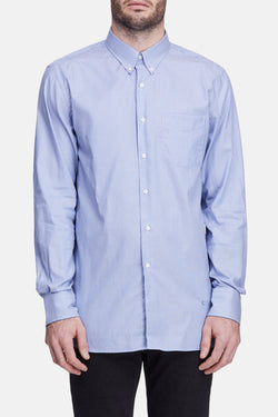 L/S Button Down Shirt - Blue/White