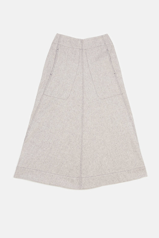 Flared Skirt - Beige Marl