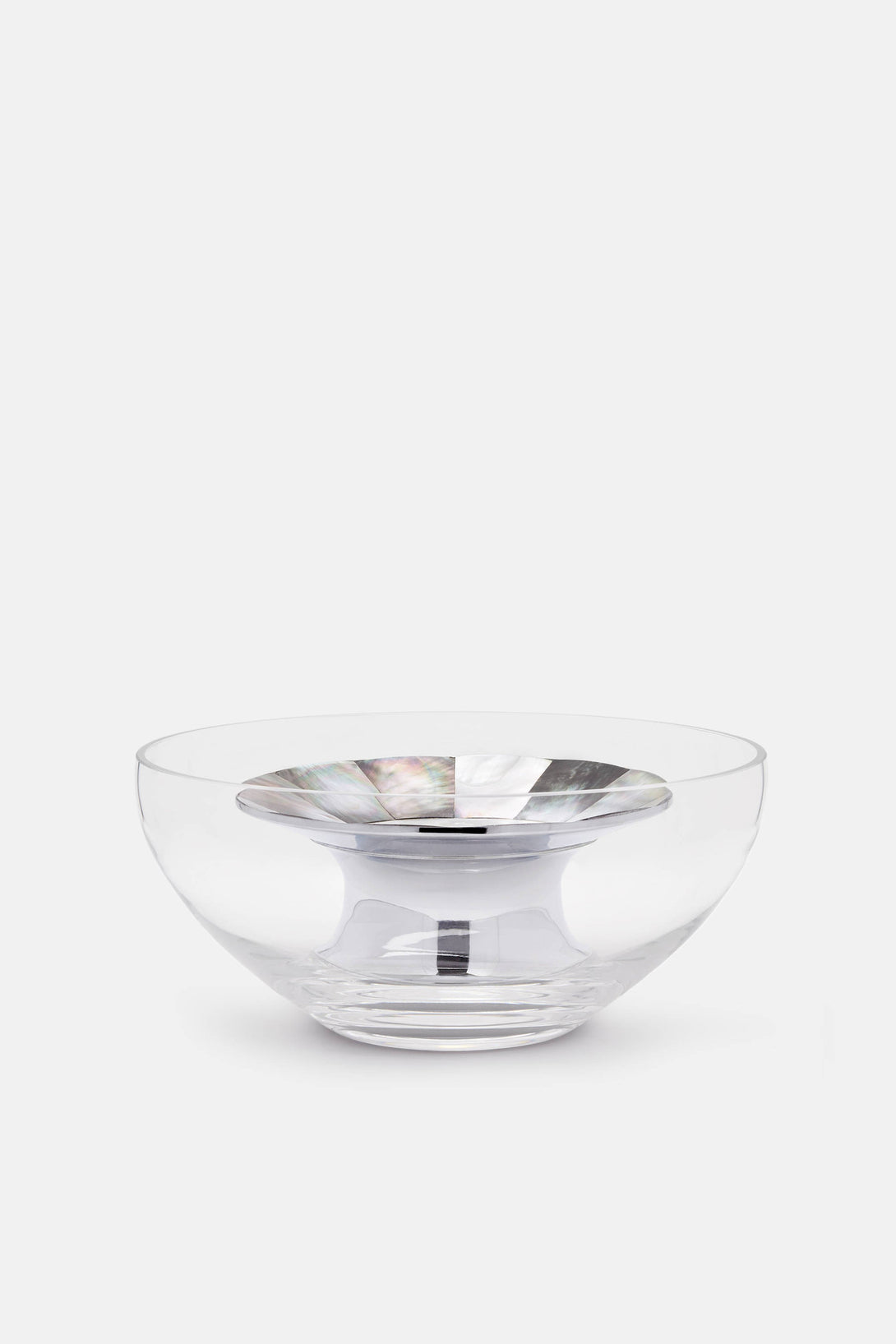 Large Mother of Pearl and Glass Caviar Bowl