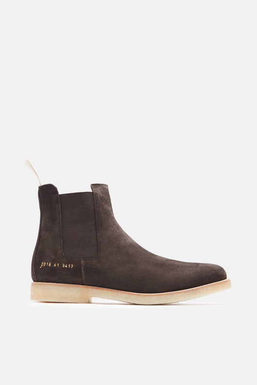Chelsea Boot in Suede - Dark Brown