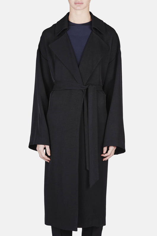 Coat 09 Oversized Trench - Black