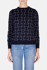 Rond Sweater - Navy/White