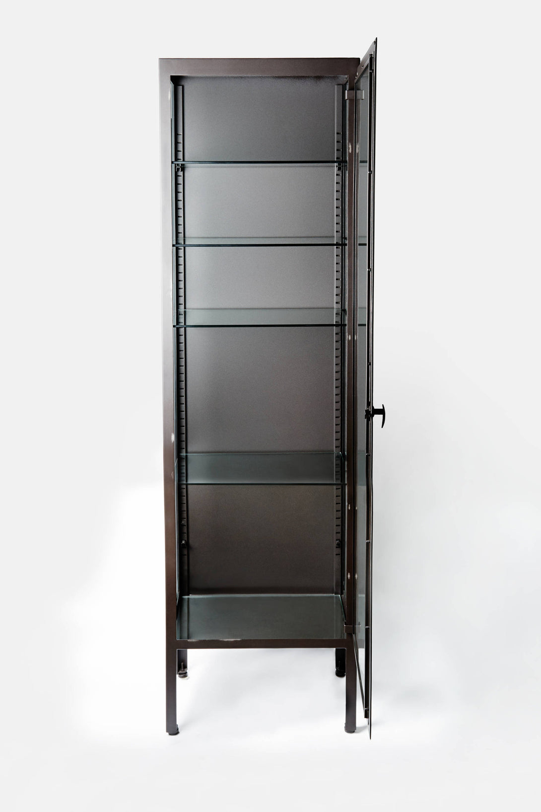 Metal Glass Display Cabinet Tall Industrial Display Cabinet The Line