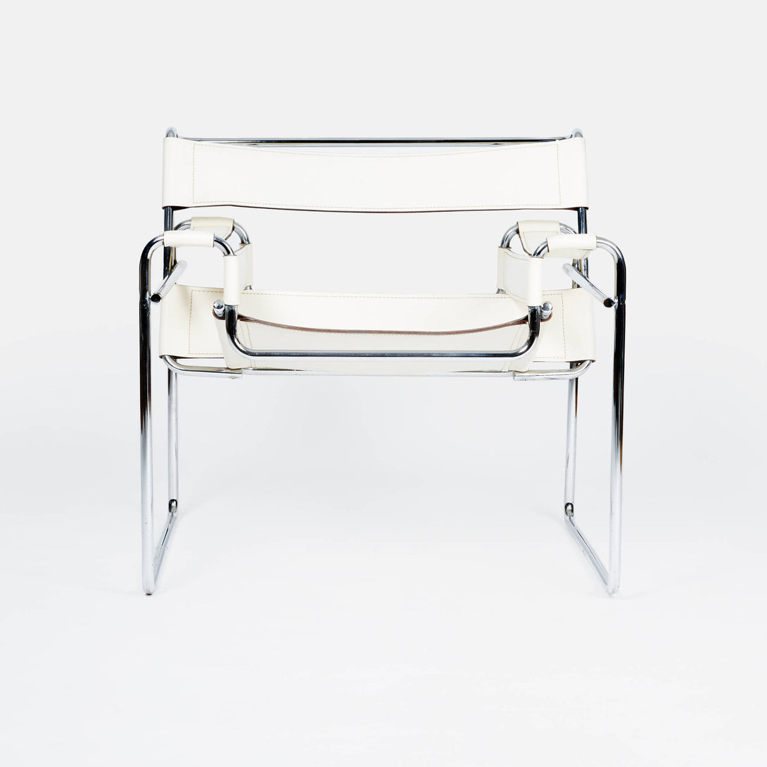 Wassily Chair by Marcel Breuer - White
