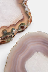 Set of 4 Agate Coasters - Smoke