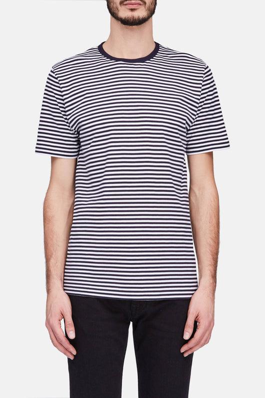 Classic Crew -  Navy Stripes