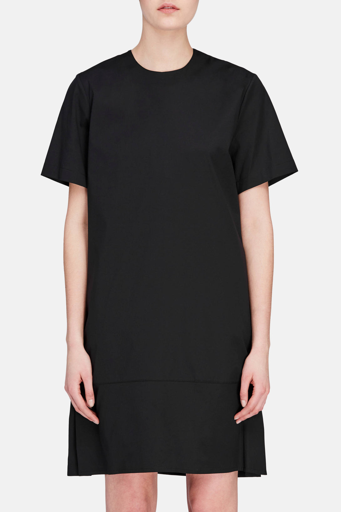 Constrast Shift Dress - Black