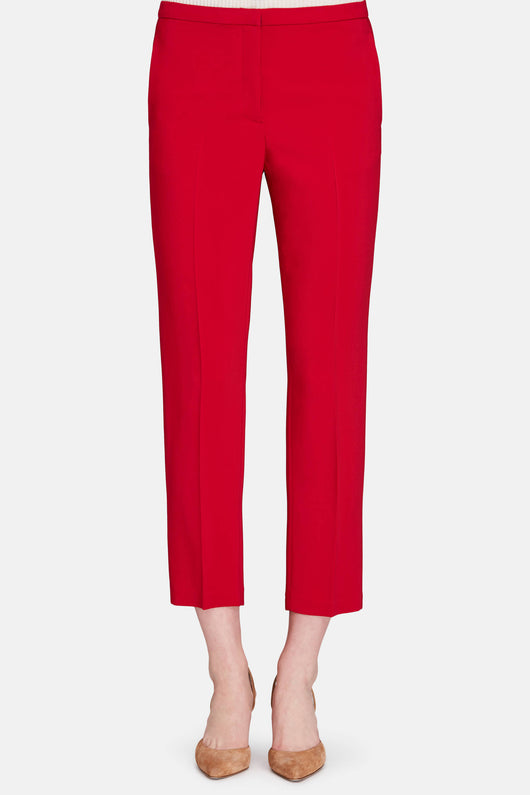 Cropped Skinny Trouser - Ruby