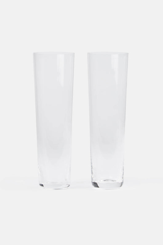 Pair of Straight Champagne Glasses