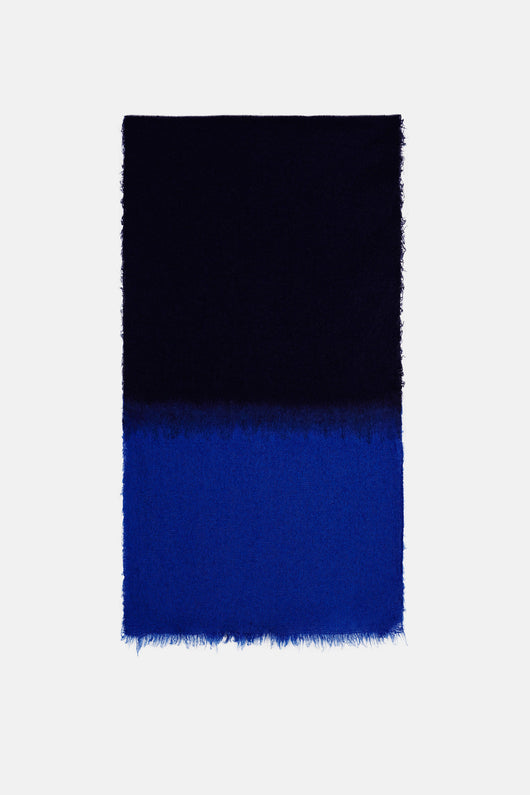 Duo Fluffy Stola 21.5 x 77 - Lapis/Royal Blue