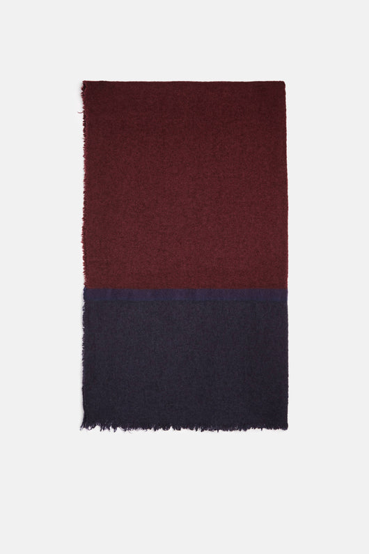 Agufluffy Stola - Burgundy/Navy