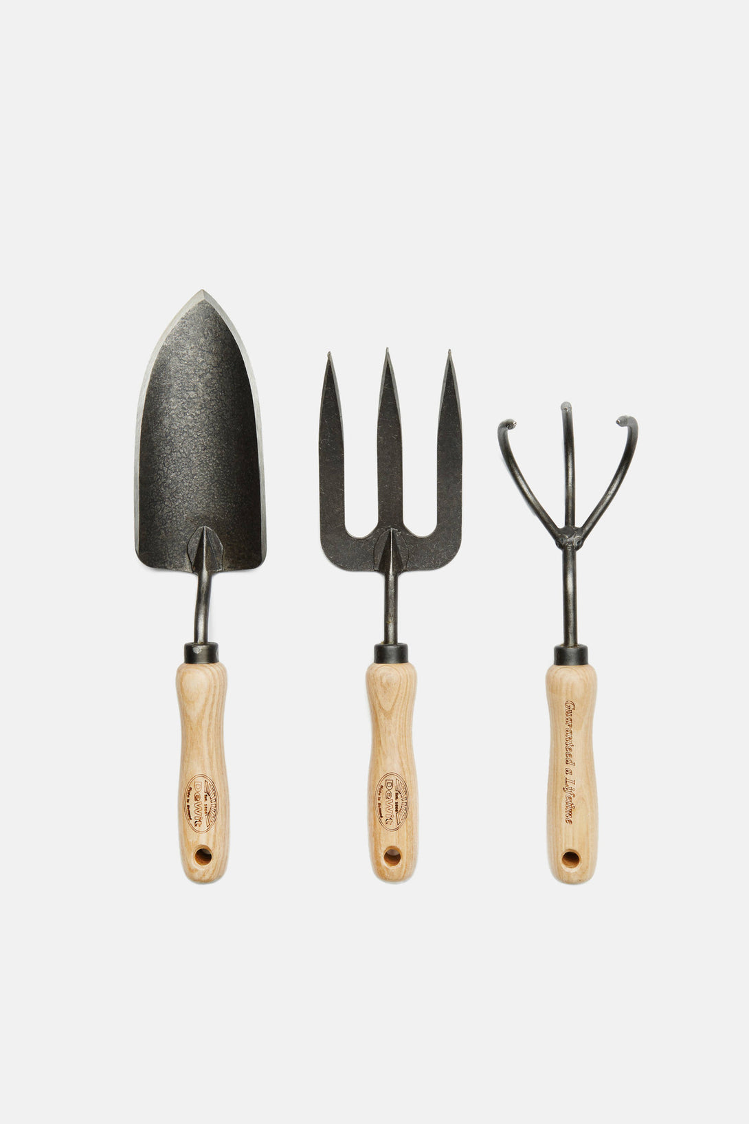 3 Piece Hand Forged Dutch Gardening Tool Set