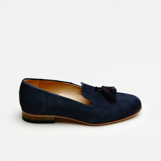 Gaston Slip-On Tassel Loafer - Marine Blue/Purple