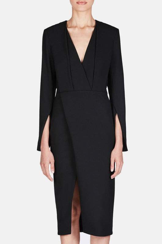 Dress 32 Deep V Tailored Dress - Jet Black