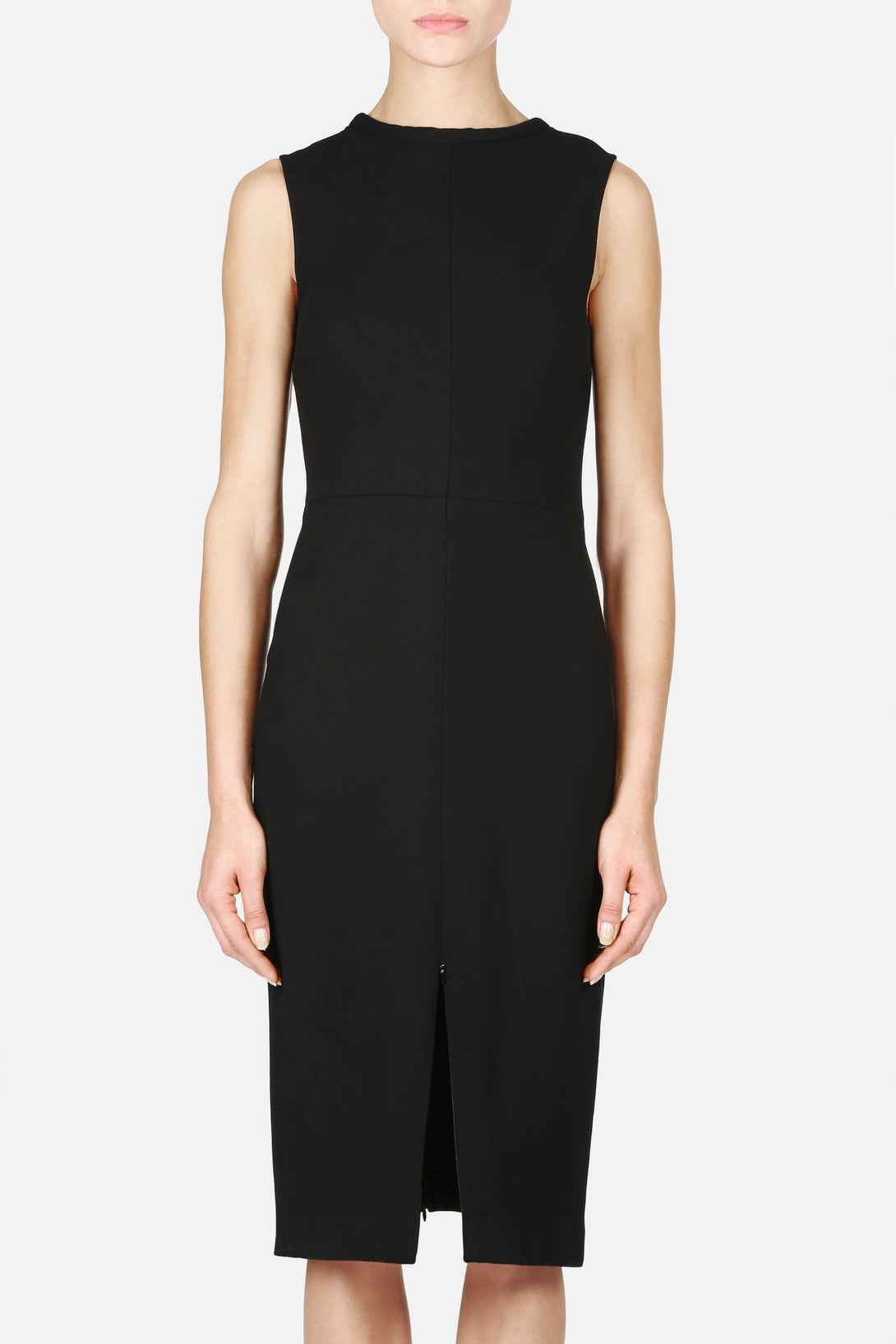 Dress 04 High Neck Shift Dress - Black