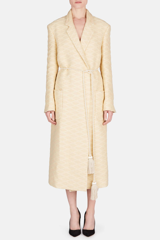 Dressing Gown Coat - Natural