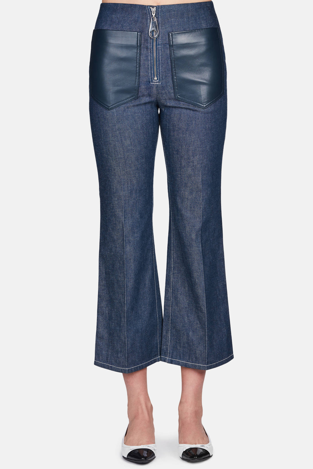 Denim Flared Pant - Cobalt