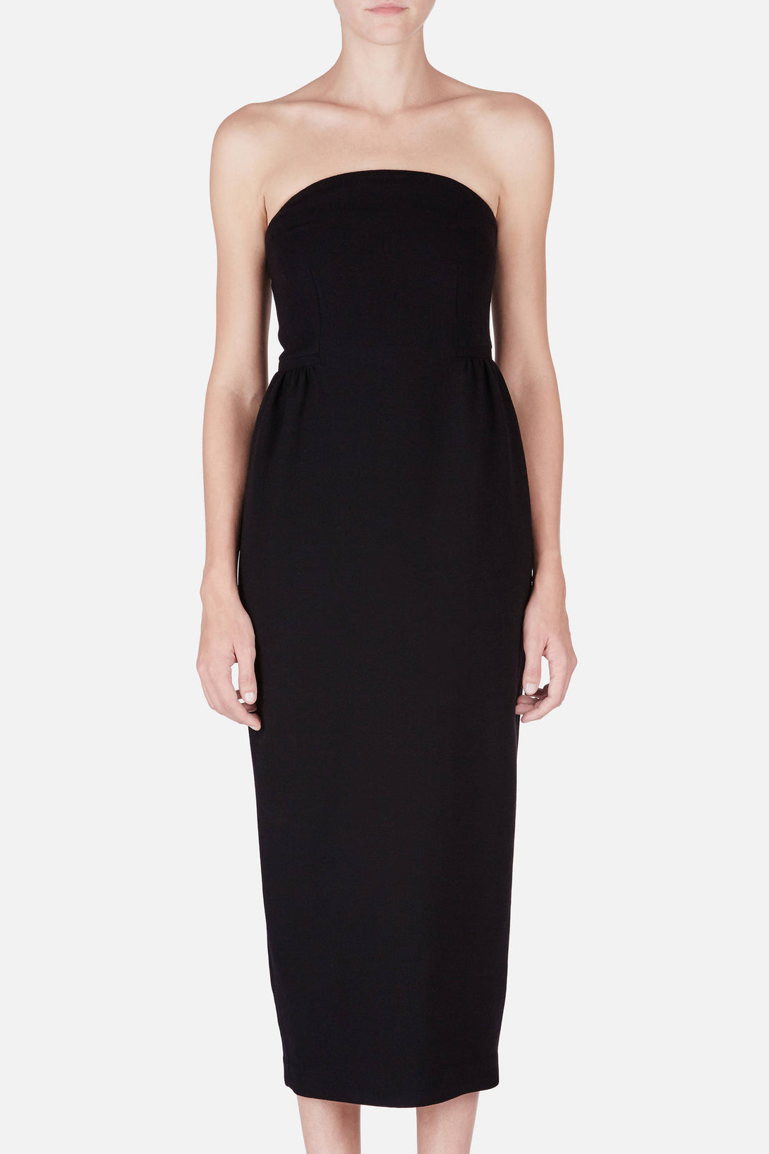 Dress 17 Strapless Nipped Waist Dress - Black