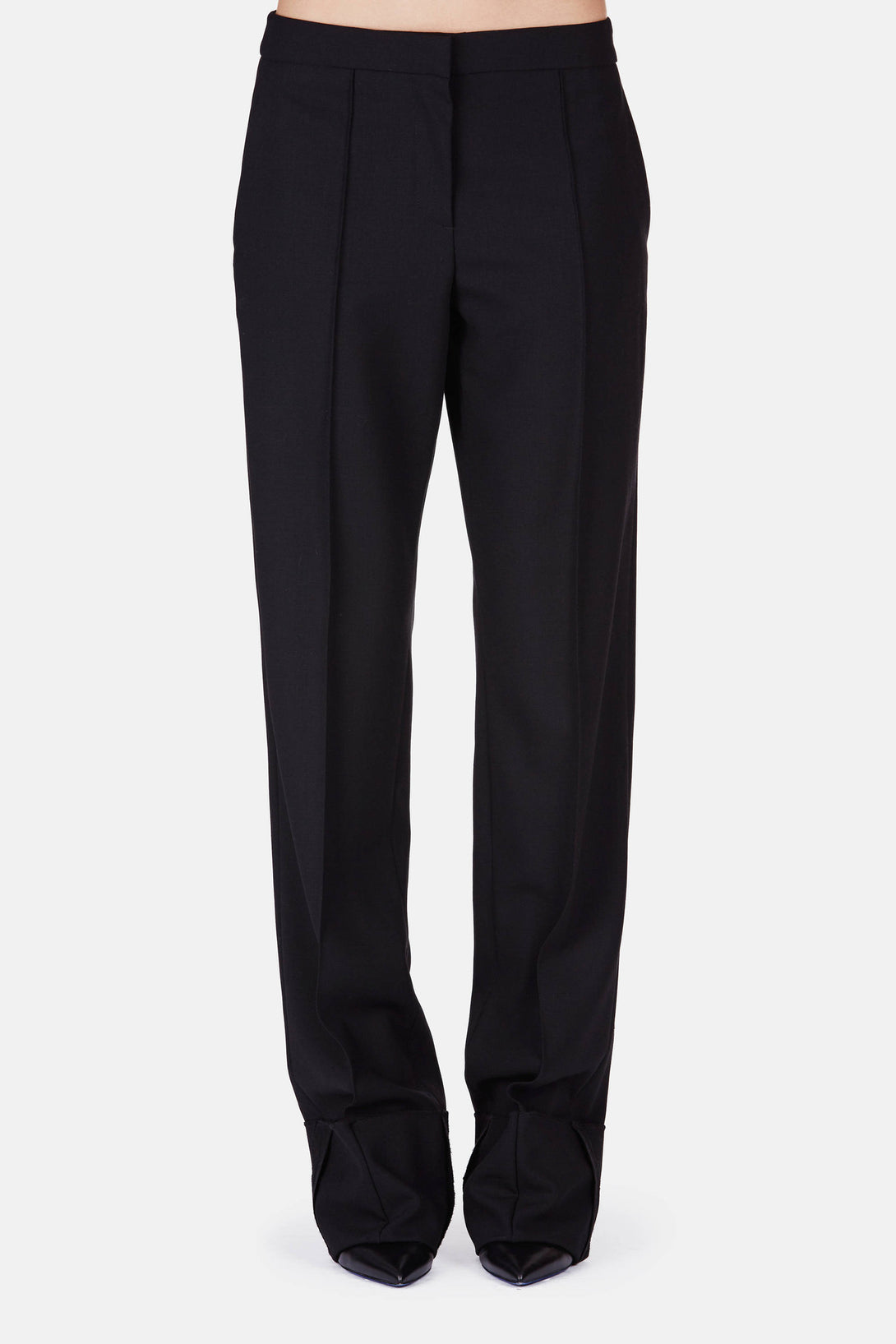 Trouser 12 Gentlemen's Trouser with Exposed Cuff - Warm Black