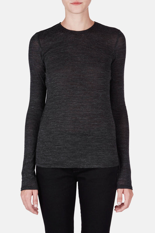 T-Shirt 09 Exposed Seam Crewneck - Charcoal