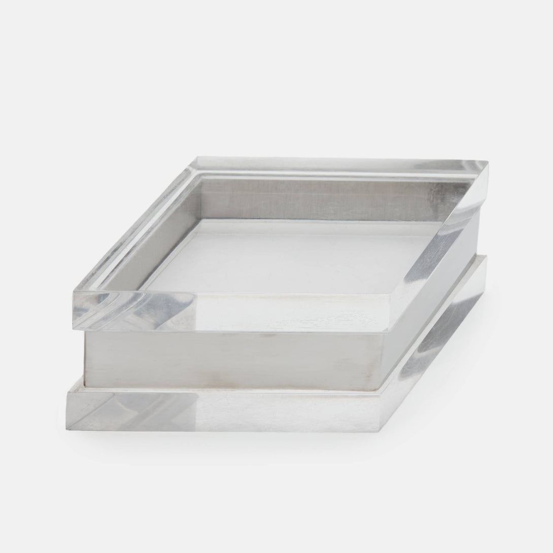 Vintage Chrome and Plexiglas Box