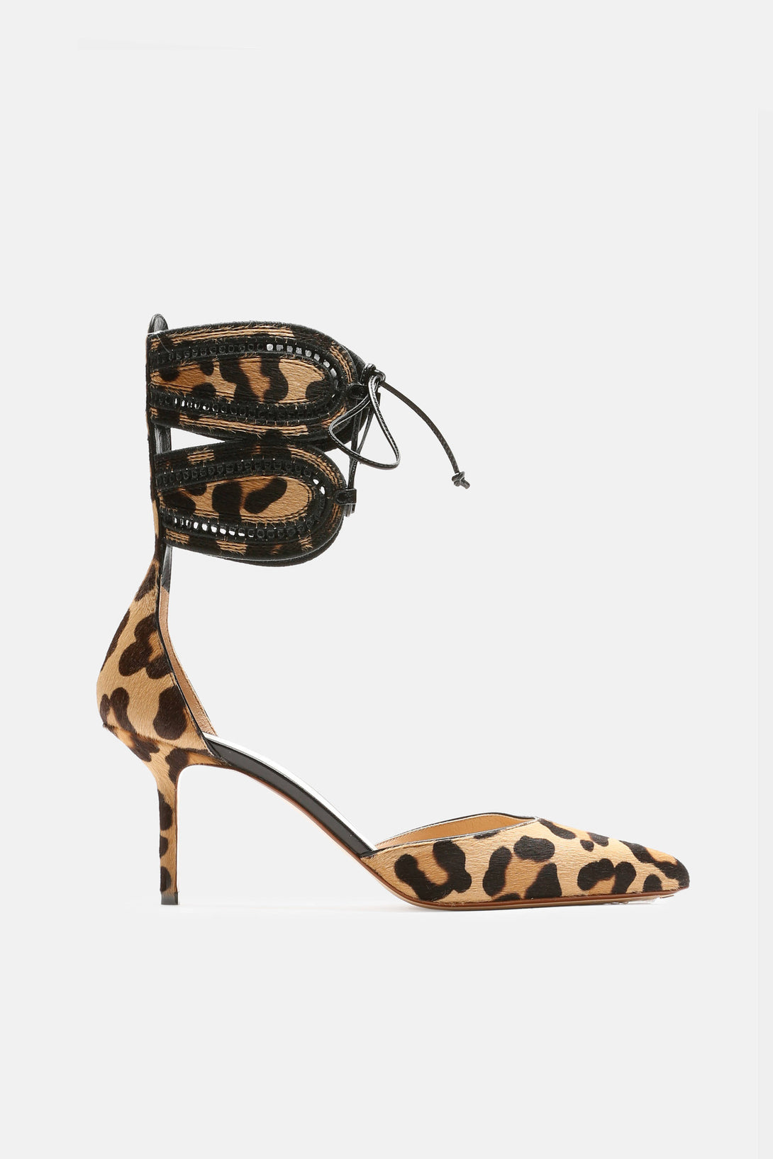 Ankle-Cuff Kitten Pump - Leopard