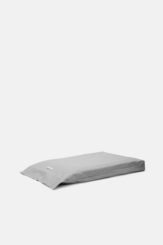 Washed Percale Full/Queen Fitted Sheet - Graphite