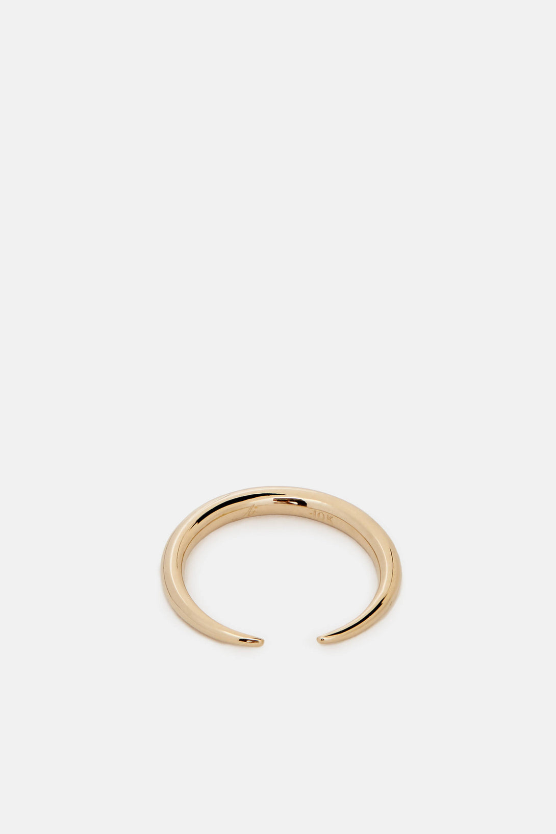 Infinite Tusk Ring - 10K Yellow Gold