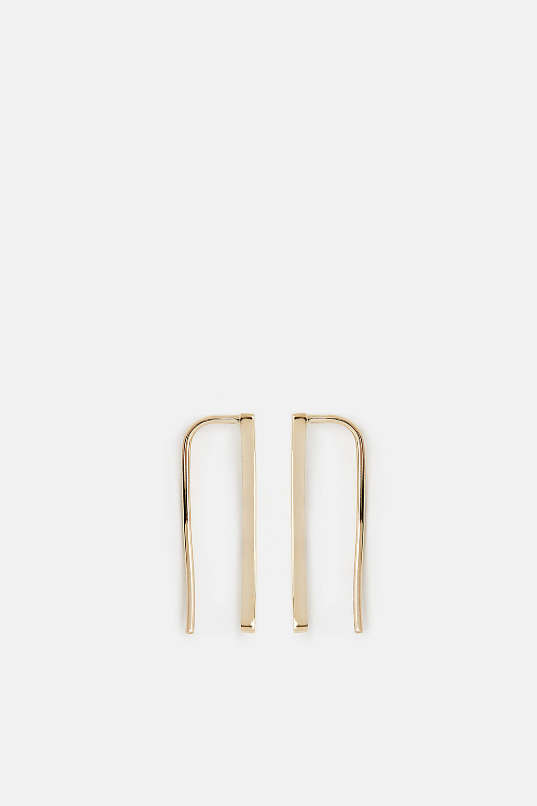 Thin Staple Earrings (Set of 2) - 14K Yellow Gold