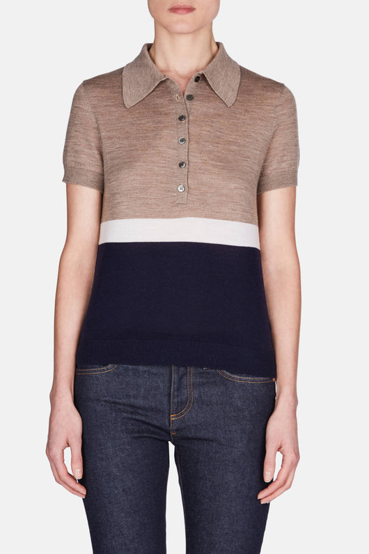 Oliver Colorblock Polo - Taupe