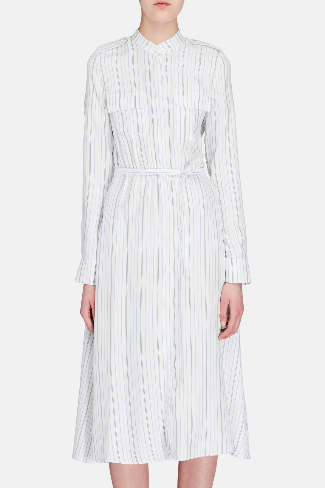 Terrell Dress - Blue Stripe