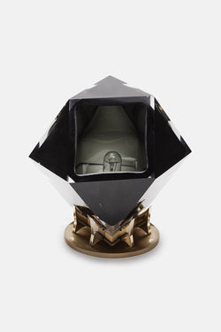 Welles Desk Lamp - Smoked Grey/Satin Brass Base