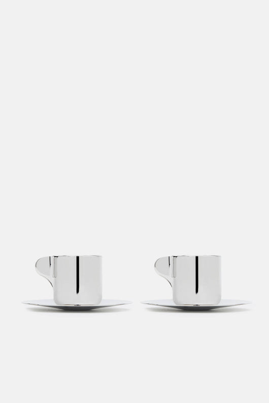 Espresso Cups with Saucers, 2 Pieces