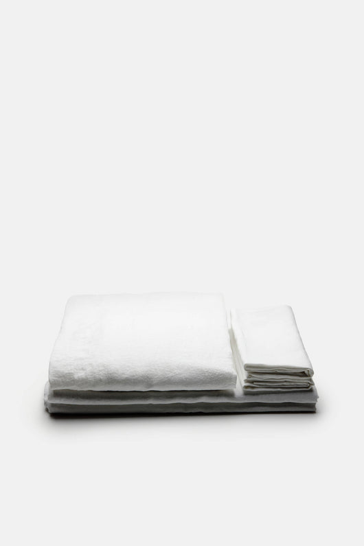 Linen Sheet Set (Flat, Fitted, 2 Pillowcases) - King