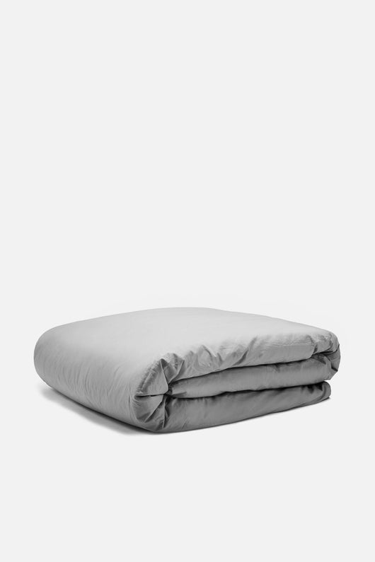Washed Percale King/Cali King Duvet - Graphite