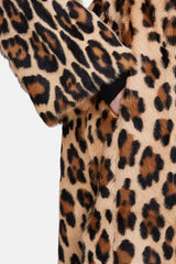 Goat Fur Duster Coat - Caramel