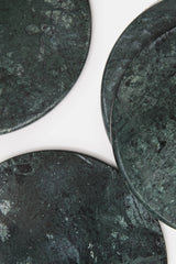 Set of Four Marble Coasters - Green