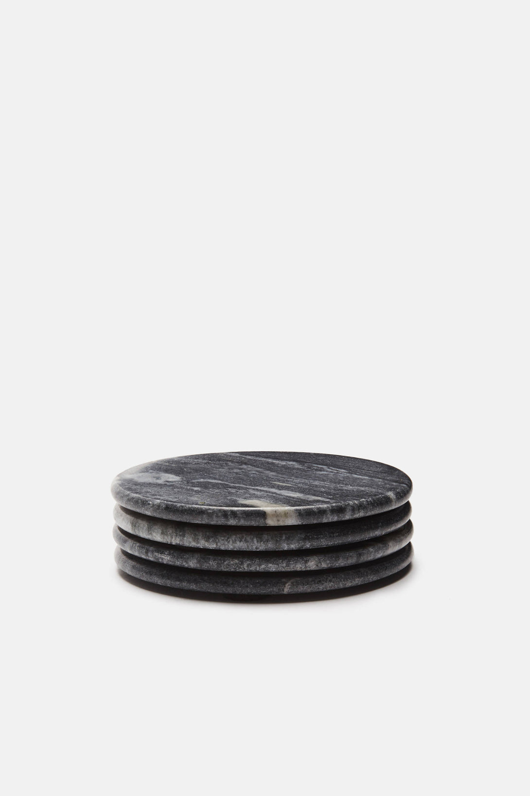 Set Of Four Marble Coasters Grey The Line