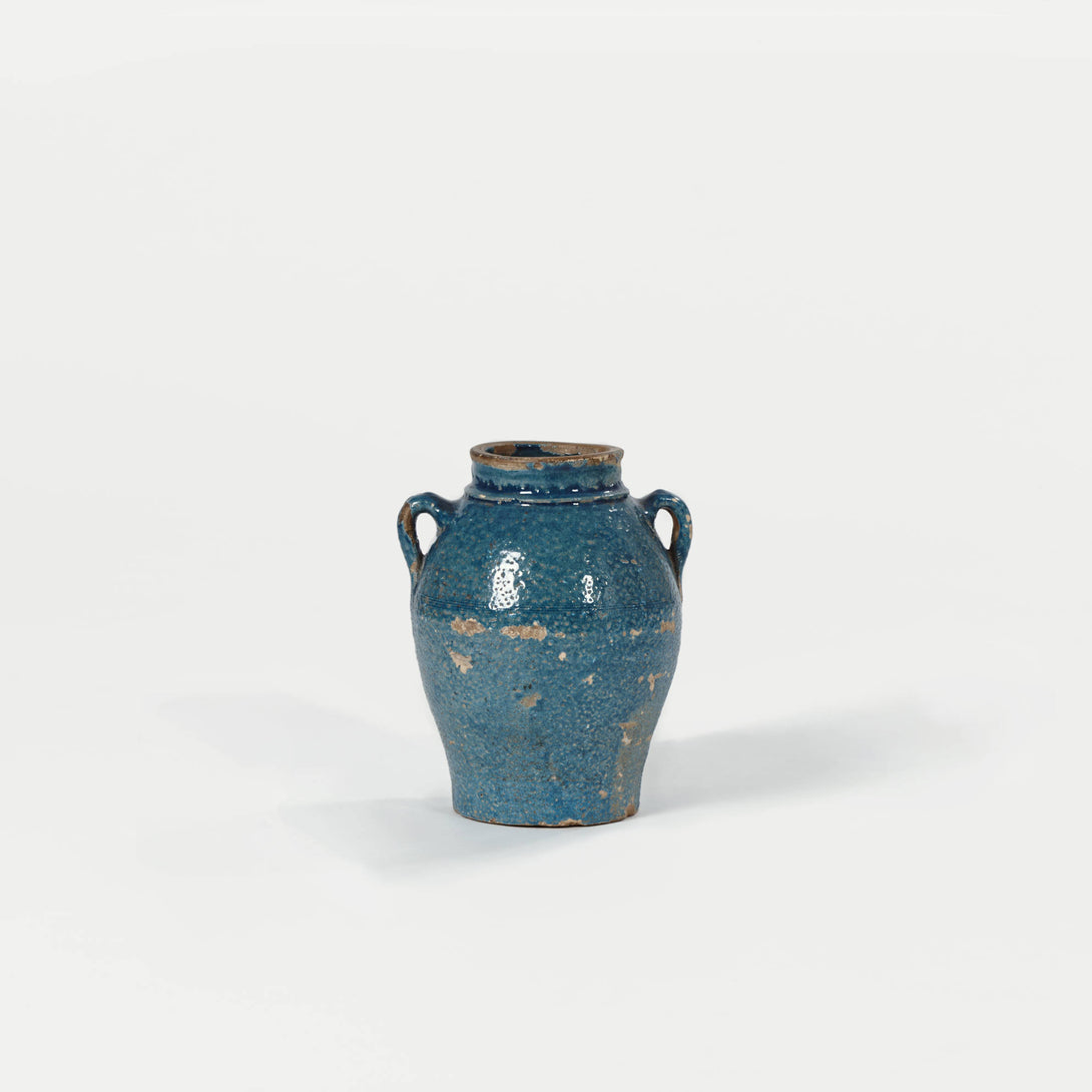 Ancient Style Blue Glaze Pottery Jar with Handles – The Line